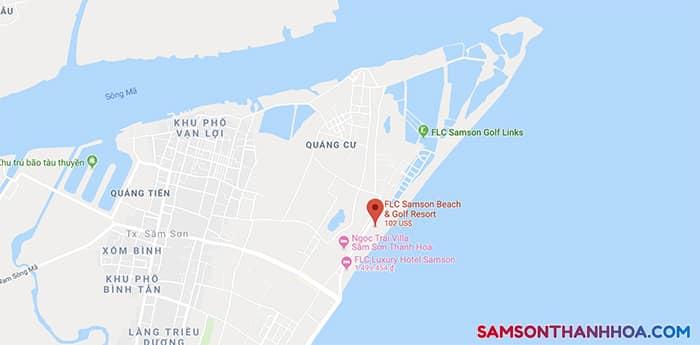 Flc Sầm Sơn trên Google Map