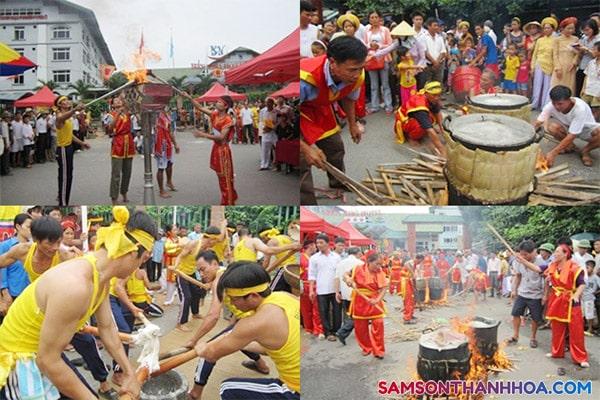 Lễ hội gói bánh chưng bánh dầy Sầm Sơn