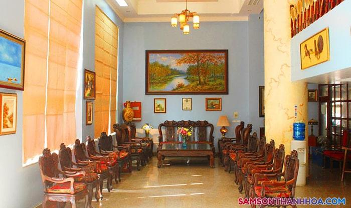 Phòng đón tiếp khách nghỉ tại tầng 1