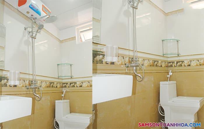 Phòng tắm với các trang thiết bị tiện nghi