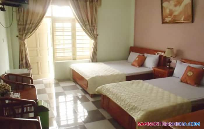 Phòng nghỉ với đầy đủ nội thất
