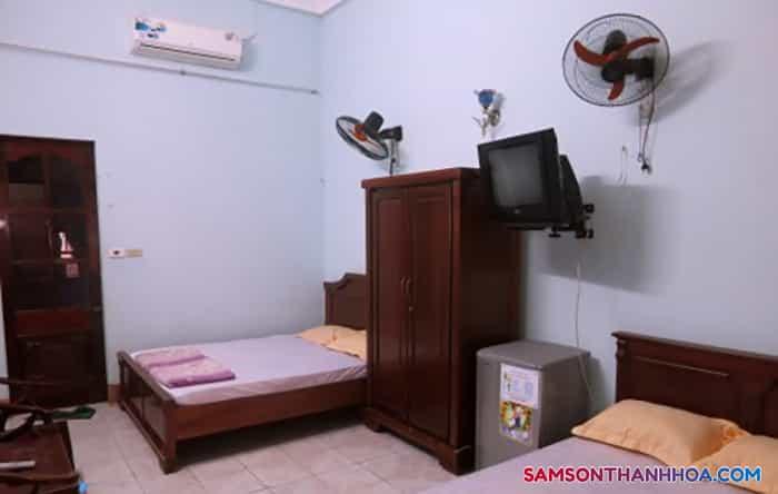 Nội thất đầy đủ, tiện nghi bên trong phòng nghỉ
