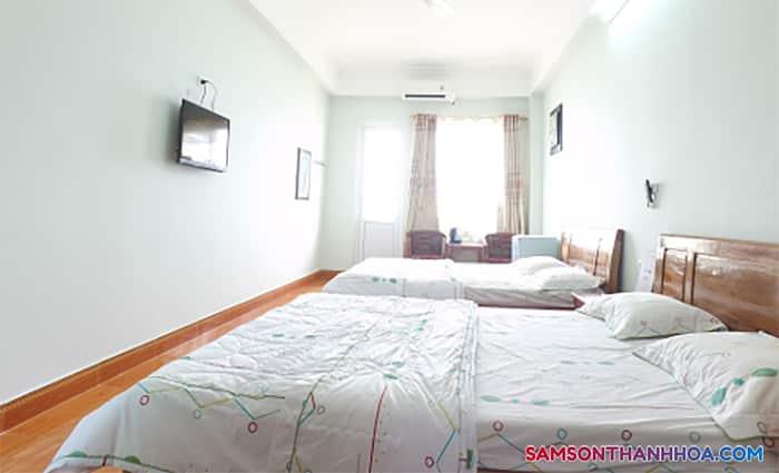 Không gian rộng rãi bên trong phòng nghỉ