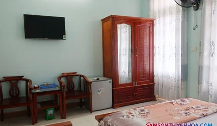 Phòng nghỉ với các nội thất hiện đại