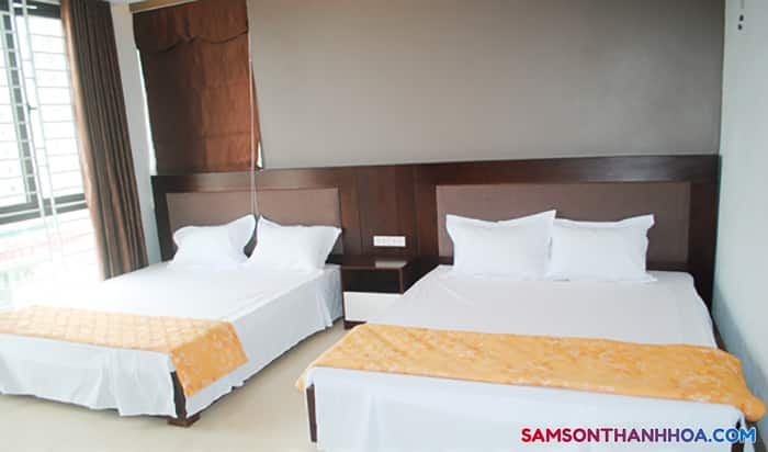 Phòng nghỉ có tới 2 giường đôi