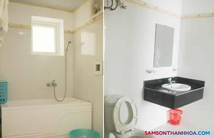 Phòng tắm được lắp đặt 100% thiết bị mới
