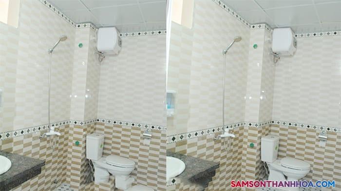 Trang thiết bị được lắp mới 100% trong phòng vệ sinh
