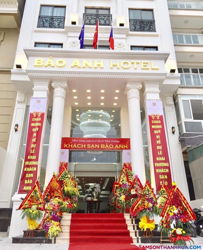 Mặt tiền của khách sạn Bảo Anh - Sầm Sơn -Thanh Hóa