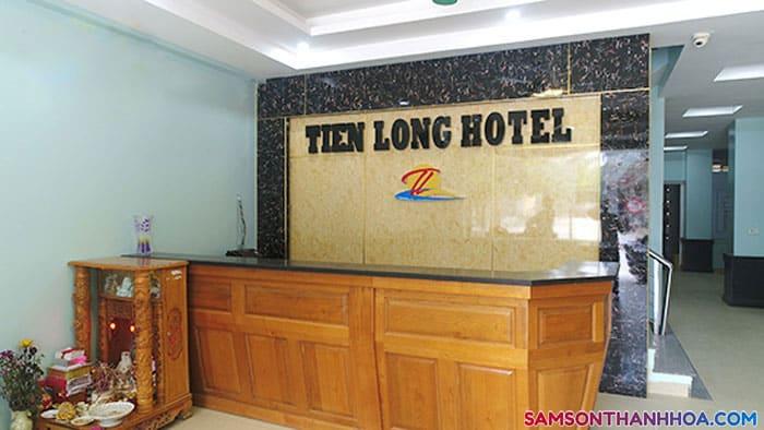 Quầy lễ tân của khách sạn Tiến Long Sầm Sơn
