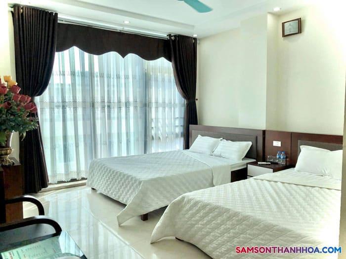 Phòng ngủ 2 giường đôi luôn mang đến giấc ngủ dễ chịu với điều hòa mát lạnh